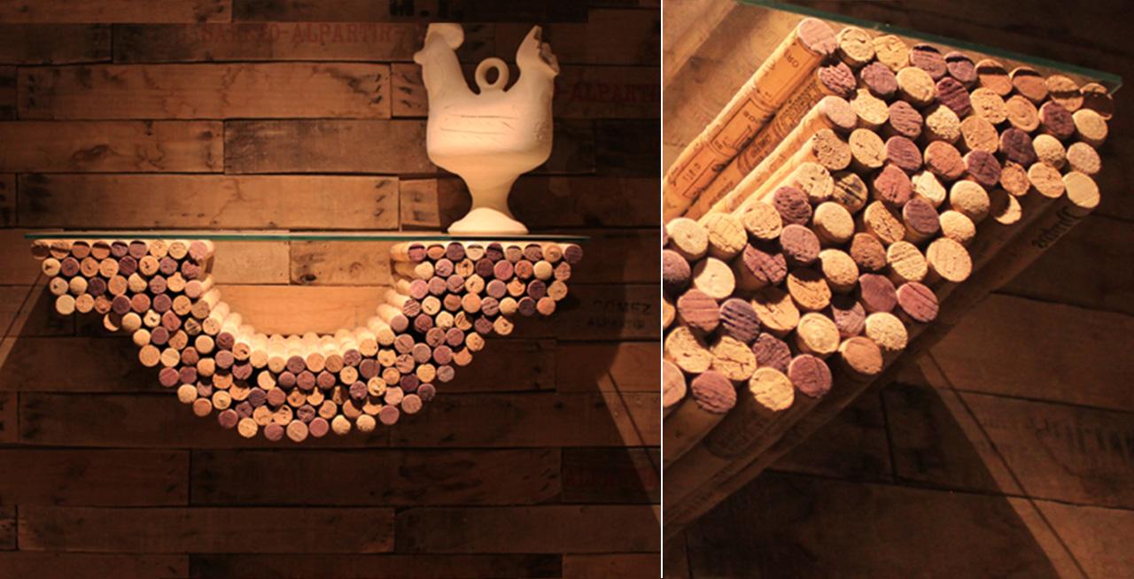 cork shelves - francesco sillitti