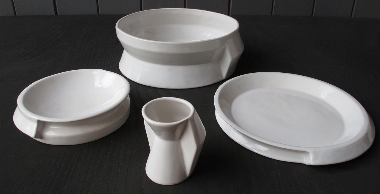 When combined they are complementary with each other. These geometric lines make the collection unique and suitable to serve innovative recipes. & Positive Negative - Francesco Sillitti